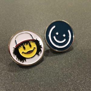 Dustin & Blue Smiley Pin Set
