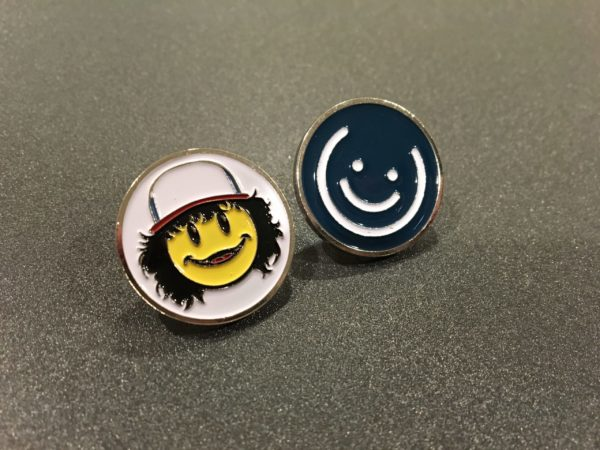 Dustin & Blue Smiley Pin Set